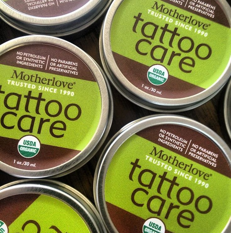 Use before, during and after. Certified organic ingredients - available here: www.motherlovetattoocare.com