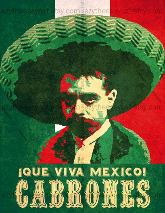 Hey, I found this really awesome Etsy listing at https://www.etsy.com/listing/173896576/zapata-viva-mexico-cabrones-poster