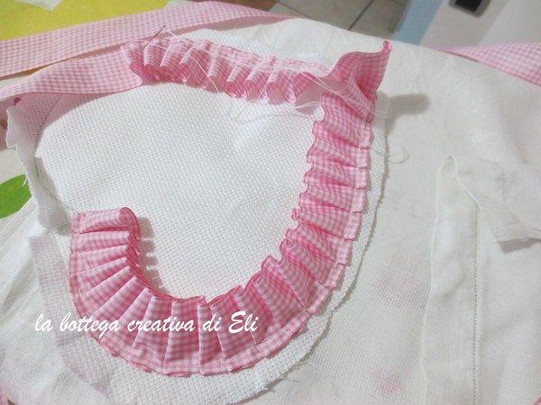 Come realizzare un fiocco nascita a forma di cuore