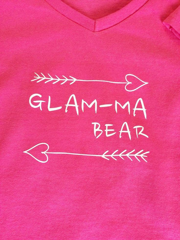 Glamma bear tee, grandma, morhers day shirt, glamma by knitwhitscouture on Etsy https://www.etsy.com/listing/291814071/glamma-bear-tee-grandma-morhers-day