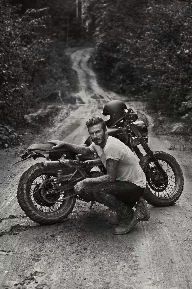david+beckham motorcycle moto style jbrand j+brand home inspiration look mens fashion denim