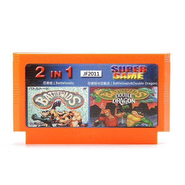 2 In 1 8 Bit Game Cartridge Double Dragon Ninja Frog for NES Nintendo