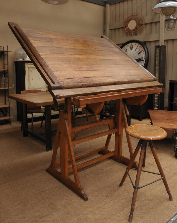 the 25 best vintage drafting table ideas on pinterest. Black Bedroom Furniture Sets. Home Design Ideas