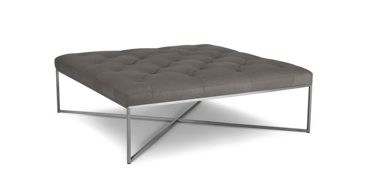Tablet Lichen Gray Square Ottoman - Ottomans - Article | Modern, Mid-Century and Scandinavian Furniture
