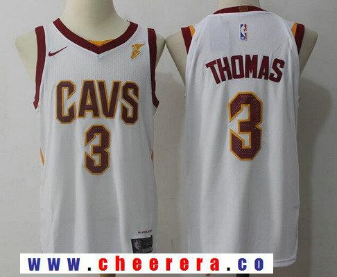 detailed look 35cdf cc547 Men's Cleveland Cavaliers #3 Isaiah Thomas White 2017-2018 ...