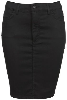 Topshop • MOTO DENIM PENCIL SKIRT