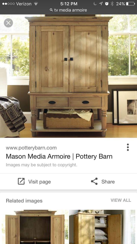 Exceptionnel Mason Media Armoire. Tv ArmoirePottery BarnFlat Screen TvsFlat Screen Tv  StandsTv CabinetsCabinetsMasonsFor The HomeBedroom Ideas