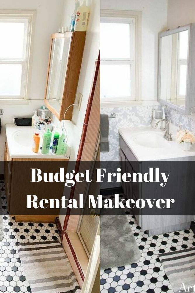 Diy Rental Bathroom Makeover Idea Rental Bathroom Makeover Bathroom Makeover Rental Bathroom
