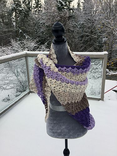 This Warm C2C Shawl is done differently than conventional C2C. C2C means Corner to Corner for anyone confused at this point.