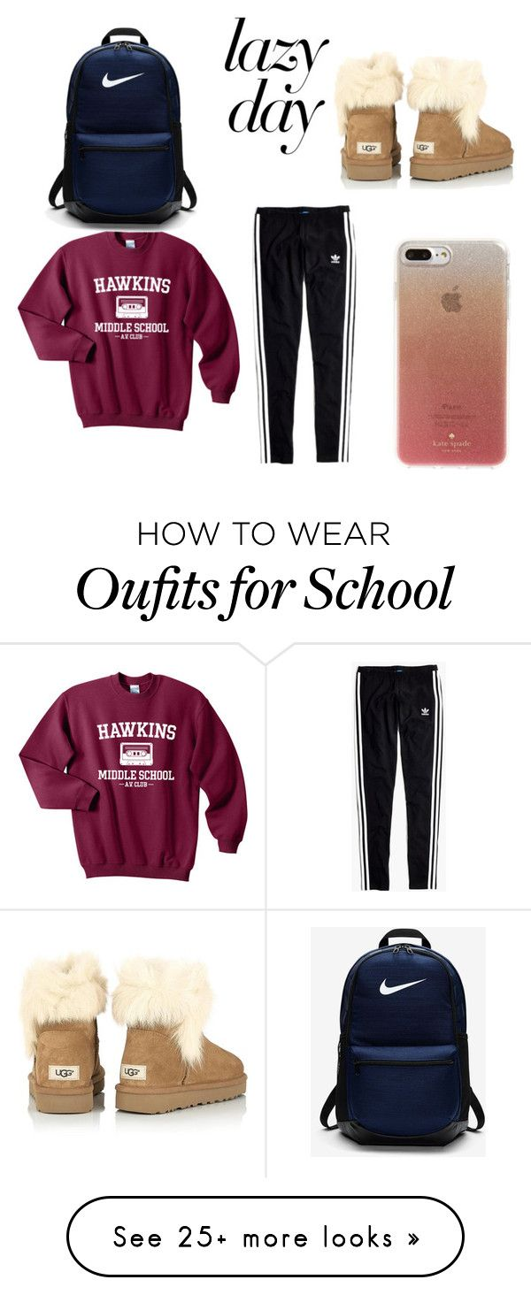 """""""AIRPORT COFTY OUTFIT"""" by mildred11415 on Polyvore featuring Madewell, UGG, Kate Spade and NIKE"""