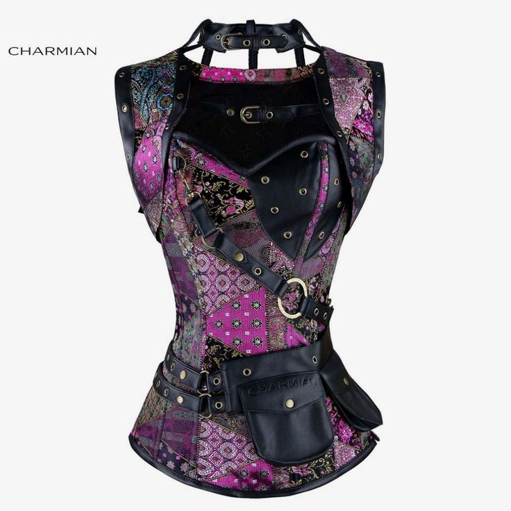 Charmian Women's Plus Size Retro Gothic Steampunk Corset Spiral Steel Boned Green Purple Corset Brocade Bustiers with Pouch Belt $57.91   => Save up to 60% and Free Shipping => Order Now! #fashion #woman #shop #diy  http://www.clothesgroup.net/product/charmian-womens-plus-size-retro-gothic-steampunk-corset-spiral-steel-boned-green-purple-corset-brocade-bustiers-with-pouch-belt/