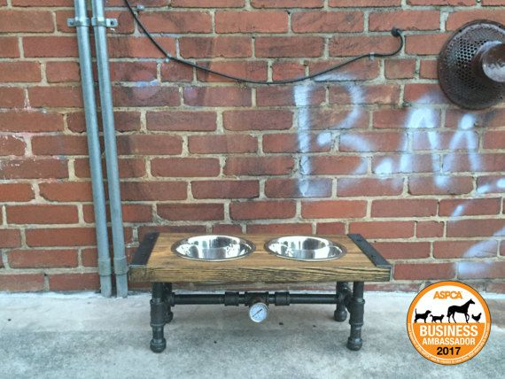 10% OFF Industrial Dog Feeder Dog Bowl Pet by TheCleverRaven
