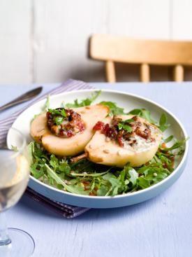 Salade met geroosterde peer en blauwe kaas | Spar