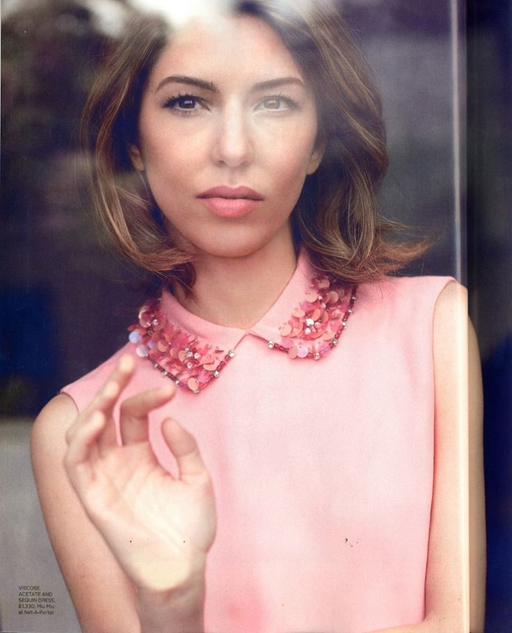 Sofia Coppola in Red Magazine - the perfect short hair style
