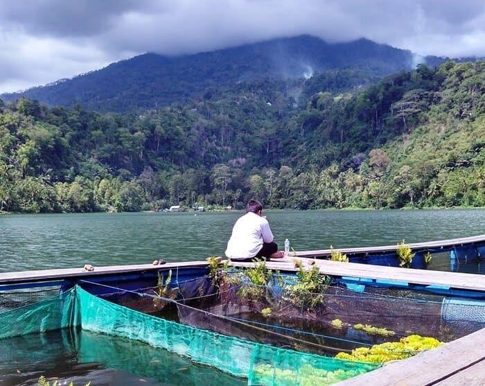 Danau Laguna Panorama Asli Dari Lukisan Di Uang Seribu Rupiah Danau Air Terjun Taman Nasional