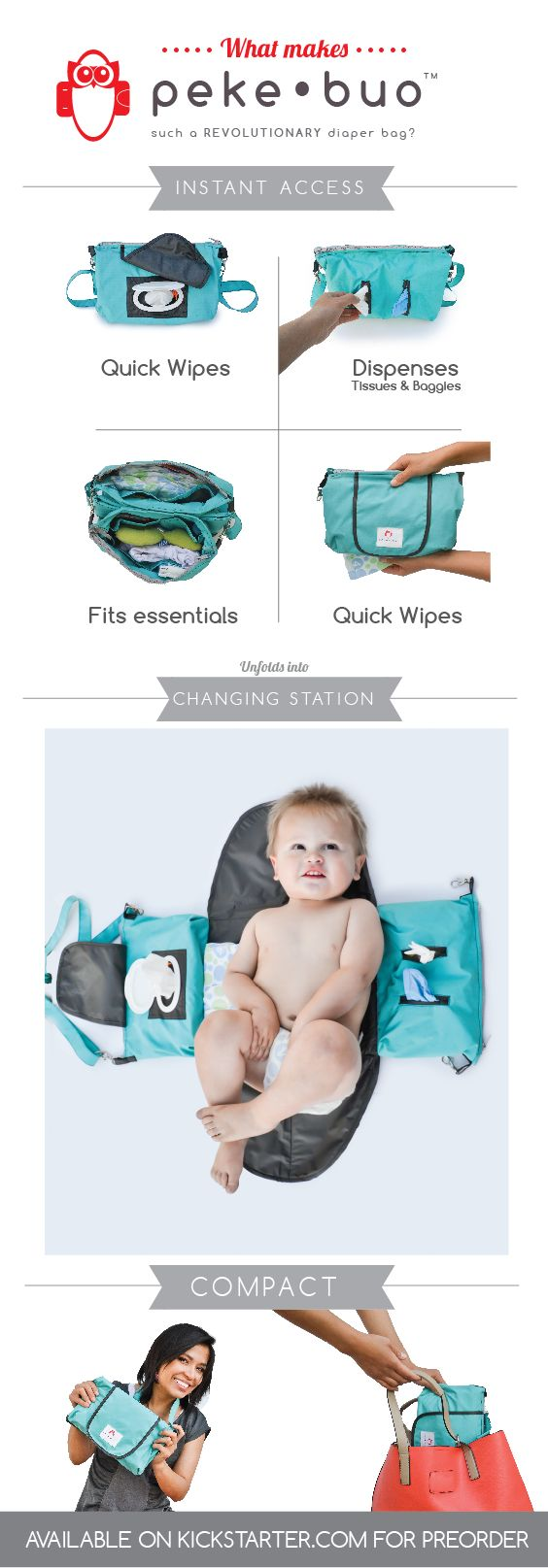 Peke•Buo- The Smart, Little Diaper Bag by Sariah Tate — on Kickstarter