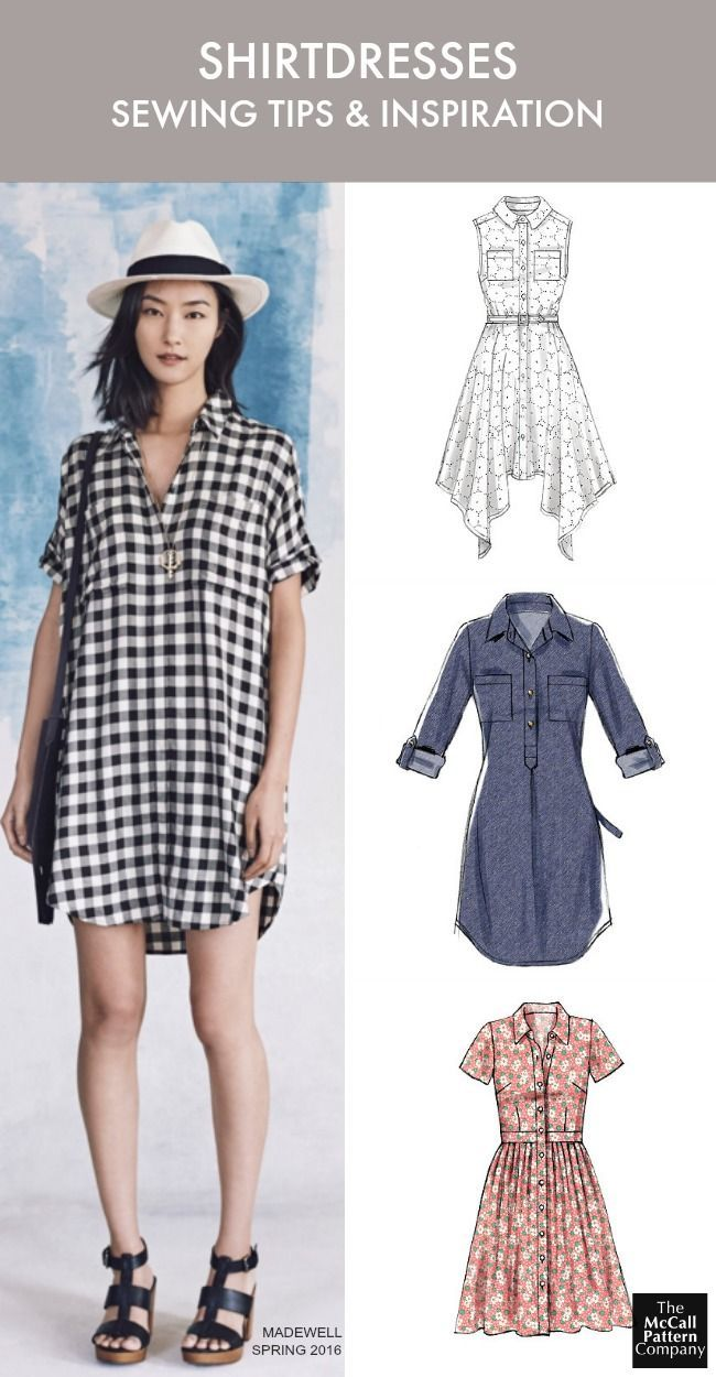 Shirtdress patterns and inspiration. Plus, 8 shirtdress sewing tips to help you sew like a pro. On the McC