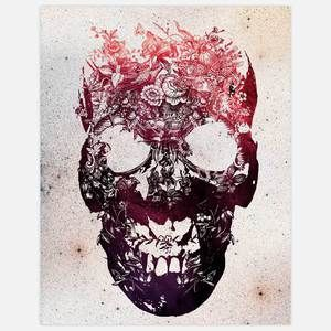 Skull 1 Print 11x14, $25, now featured on Fab.
