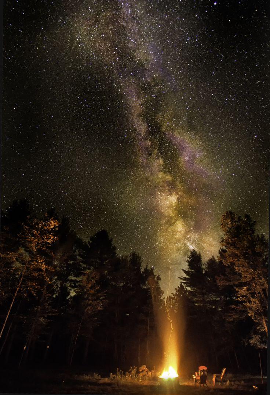 denser in middle night sky milky way galaxy - photo #1