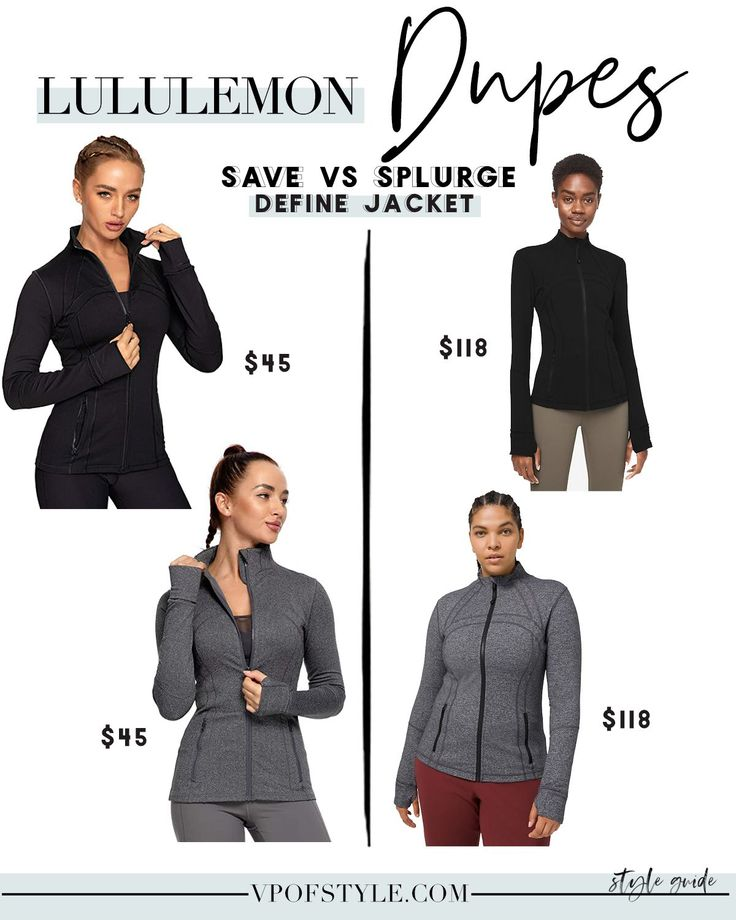 LULULEMON DUPES WORKOUT LOOKS FOR LESS VP of STYLE in