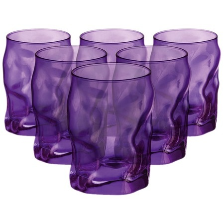 I pinned this Sorgente Water Glass in Purple - Set of 6 from the Bormioli Rocco event at Joss and Main!