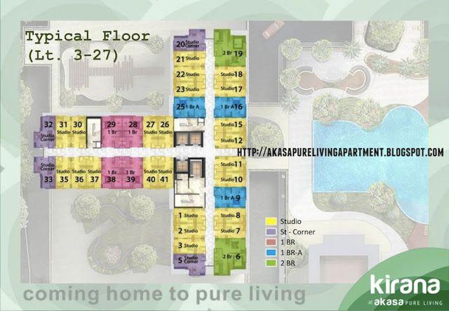 Floor Plan Akasa BSD Tower Kirana