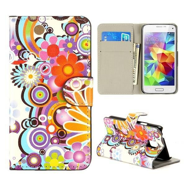 Powerflower bookcase hoes voor Samsung Galaxy S5 mini