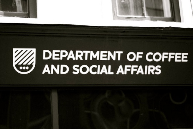 Department of Coffee And Social Affairs  I just love this name, good cafe too, located on Leather Lane, Clerkenwell, London. by Lameen Abdul-Malik