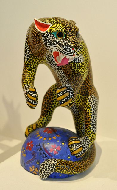Jaguar Tigre Mexico | Flickr - Photo Sharing!   This fierce carved wood jaguar was included in an exhibition of alebrijes (fanciful creatures) at the Museo de Arte Popular in Mexico City, Mexico