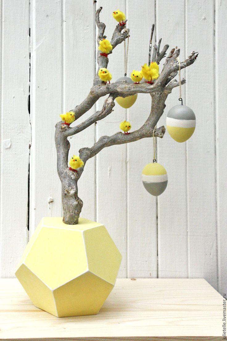Купить Пасхальное дерево - желтый, Пасха, пасхальный декор, пасхальное дерево, украшение на Пасху