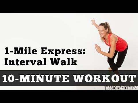 1 Mile Express Interval Walk - Low Impact Cardio You Can Do At Home In A Small Space! - YouTube