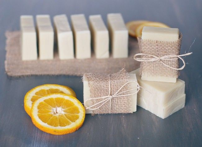 Make your own Orange + Tea Tree Soap with this tutorial.