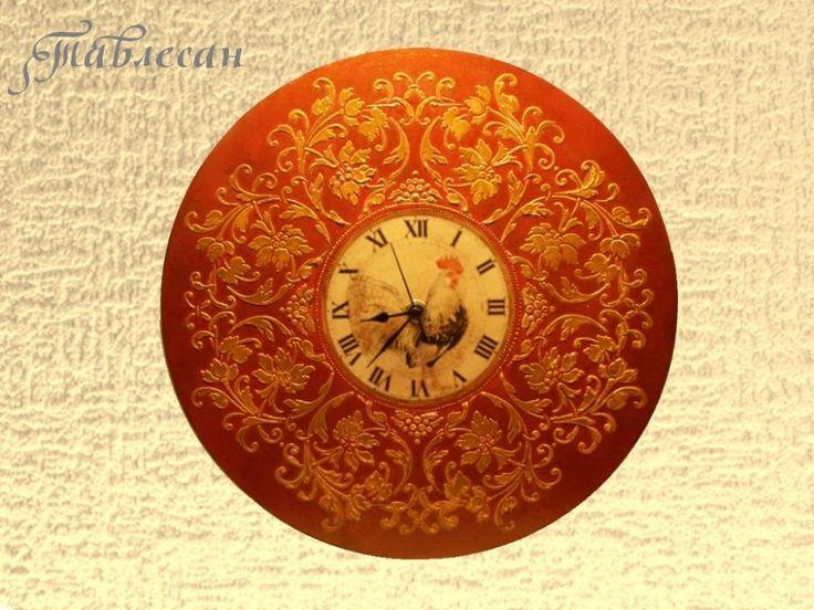 Декупаж - Сайт любителей декупажа - DCPG.RU | Опыты с трафаретами и часы в подарок  Click on photo to see more! Нажмите на фото чтобы увидеть больше! decoupage art craft handmade home decor DIY do it yourself clock