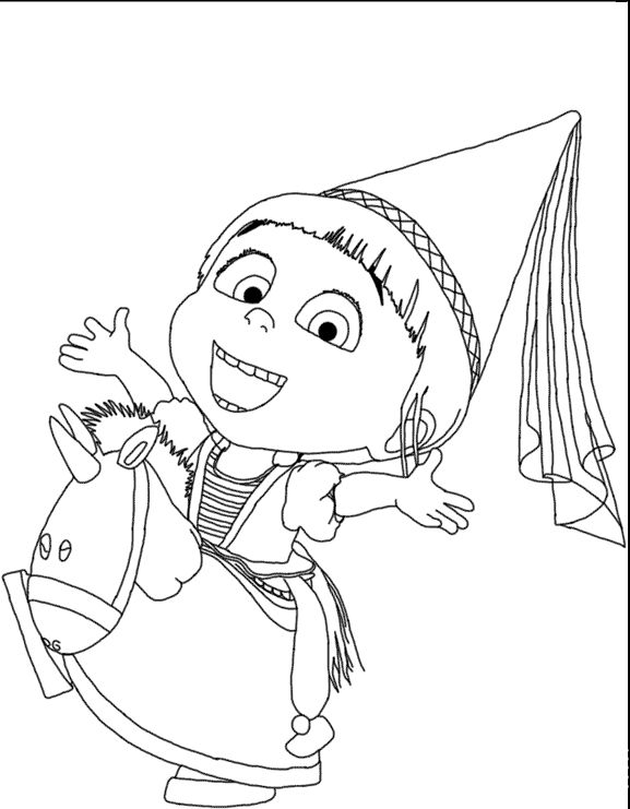 Agnes Despicable Me 2 Coloring Pages Kiddo crafts