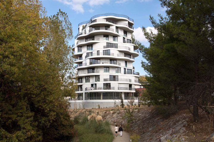 Farshid Moussavi – 36 logements et commerces - Montpellier - © Paul Phung