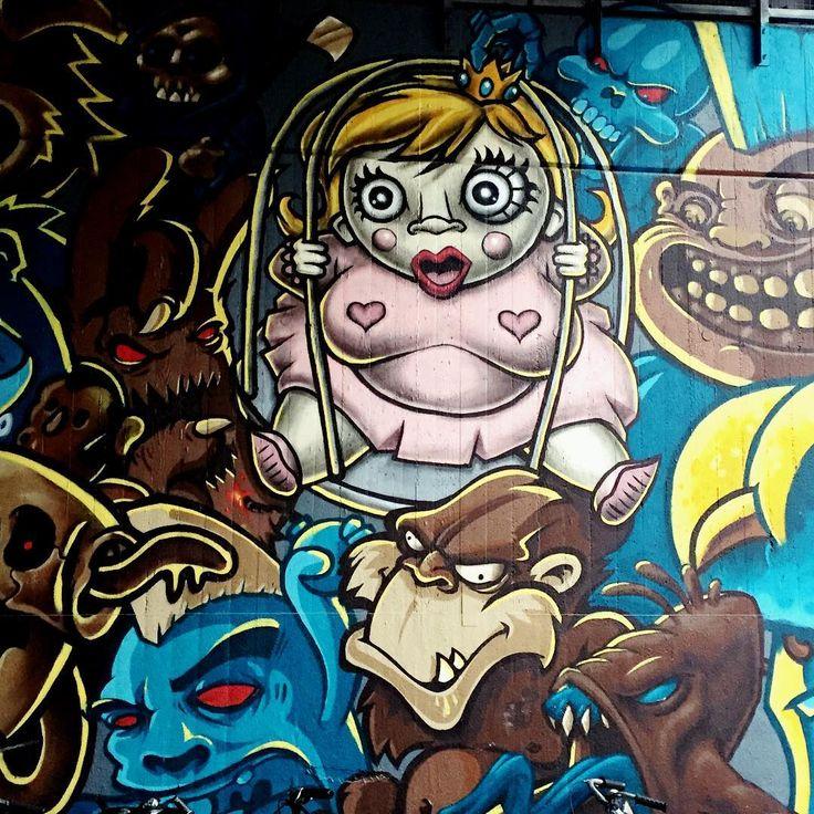 #graffiti #urban #art #streetart #wallart #mural #donnersbergerbrücke #munich #münchen #monsters #characters