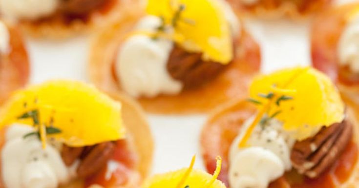 Pancetta Crisps with Goats Cheese, Oranges, Pecans and Thyme | Recipe