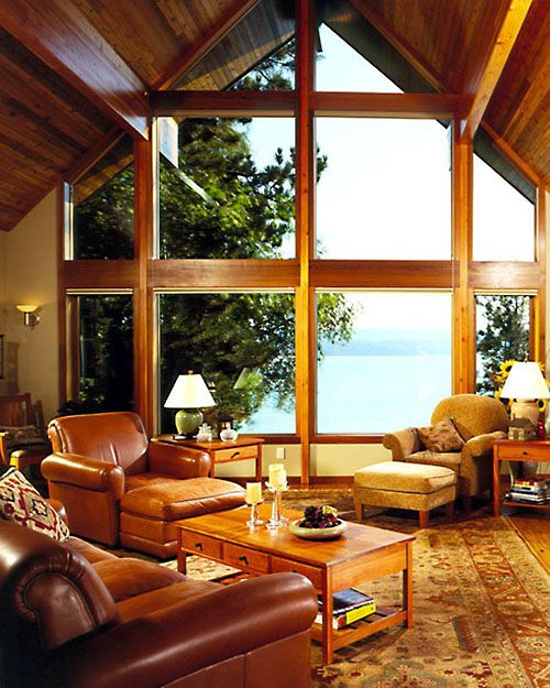 Picture of Chalet house number 36761 from Lindal Cedar Homes: worldwide manufacturer of post and beam homes, solid cedar homes, custom log homes, sunrooms and room additions.