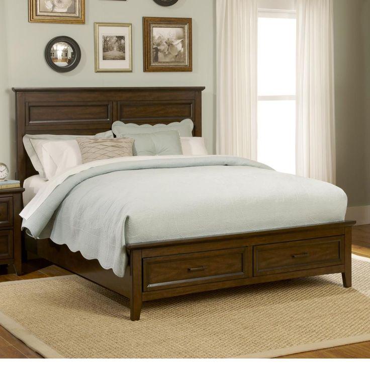 Liberty Furniture Laurel Creek Queen 2-Drawer Storage Bed - SuperStore…