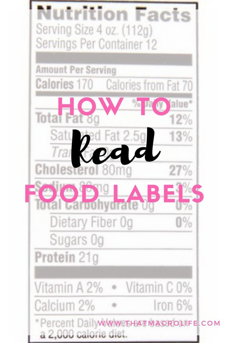 how to read food labels for gluten