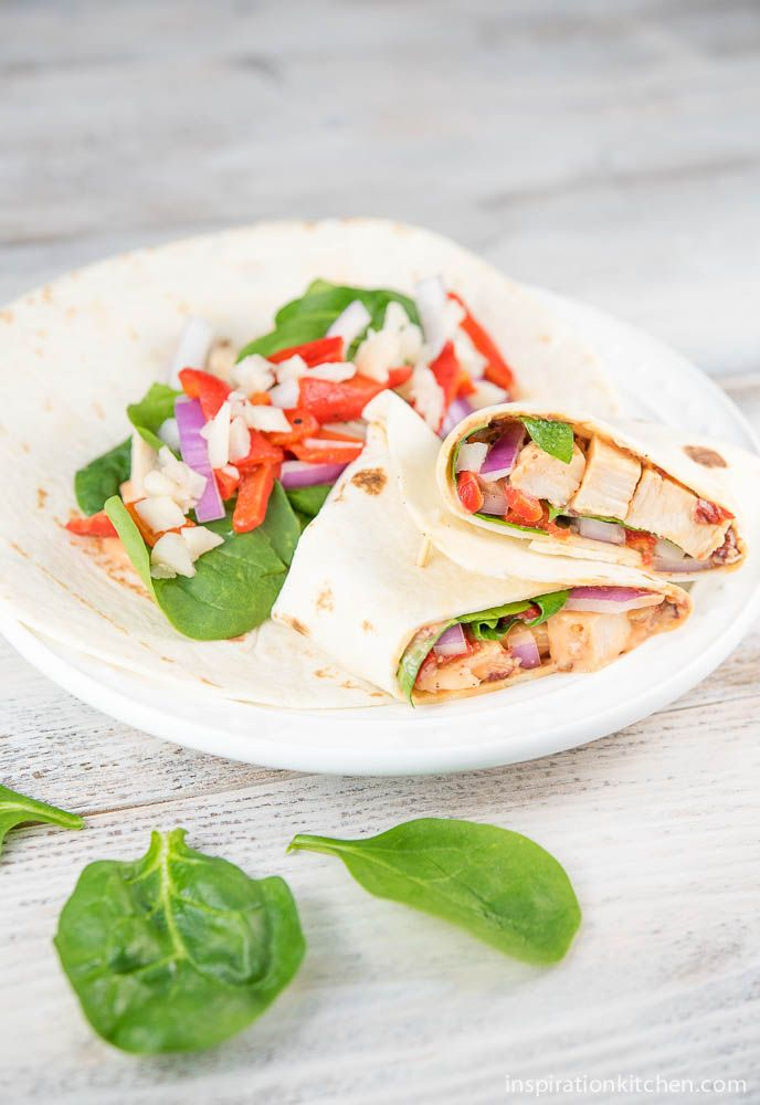 Healthy Spinach & Chipotle Chicken Wraps