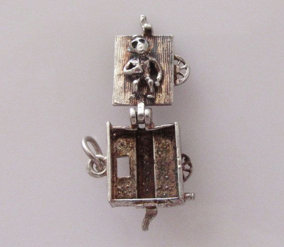 Silver CHIM Organ and Monkey Opening Charm by TrueVintageCharms