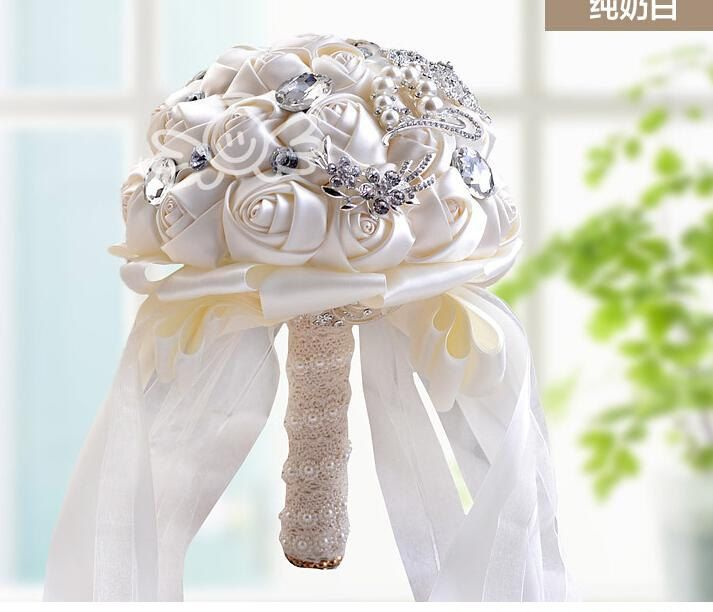 Brooch Bouquet Bridal Bouquet Pearl Bouquet Jewelled Bouquet Artificial Flowers by BellaAnjelCouture on Etsy