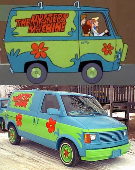 10 Real Cars Inspired by Cartoons (real life cars, cars from cartoons) - ODDEE