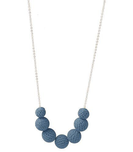 Crochet Happiness Necklace - Teal   Indigo Heart - Fair Trade Fashion A$25.95