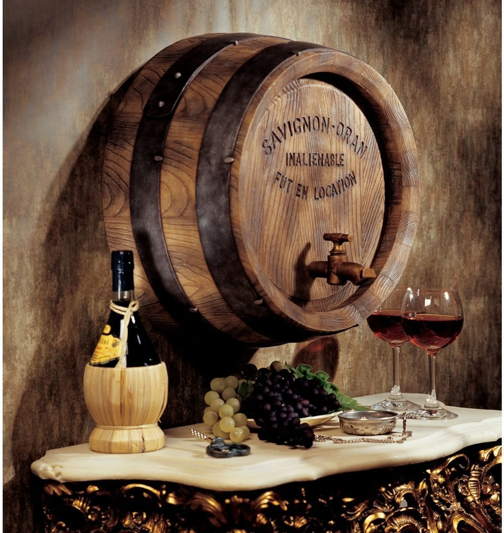 Nostalgic French Wine Barrel Wall Sculpture Savignon - Oran Vintage | eBay