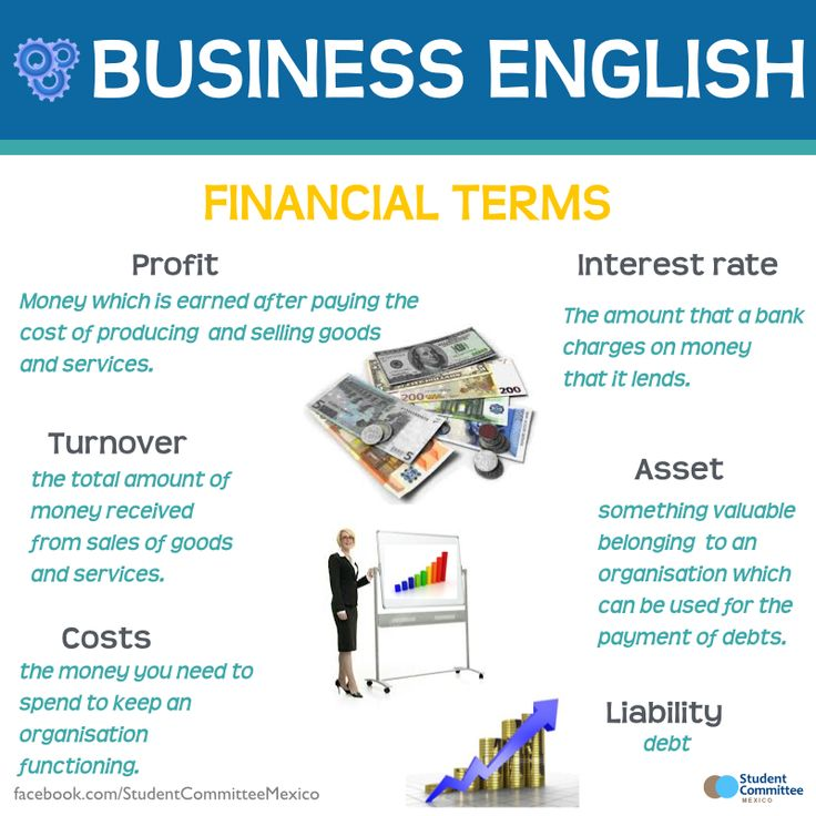 Business English 'Financial terms' - Repinned by Chesapeake College Adult Ed. We offer free classes on the Eastern Shore of MD to help you earn your GED - H.S. Diploma or Learn English (ESL) . For GED classes contact Danielle Thomas 410-829-6043 dthomas@chesapeke.edu For ESL classes contact Karen Luceti - 410-443-1163 Kluceti@chesapeake.edu . www.chesapeake.edu
