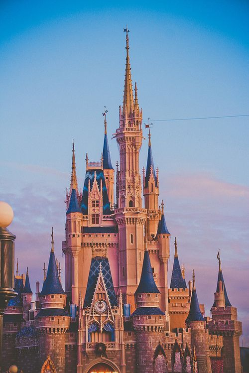 43 best disney images on pinterest wallpapers animated cartoons cinderella castle with sunset voltagebd Choice Image