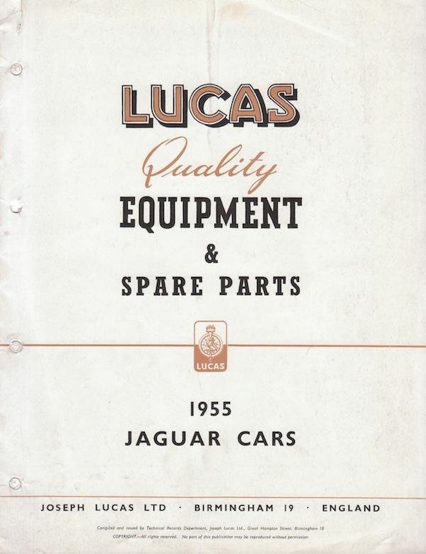 Lucas Manual Jaguar 1955