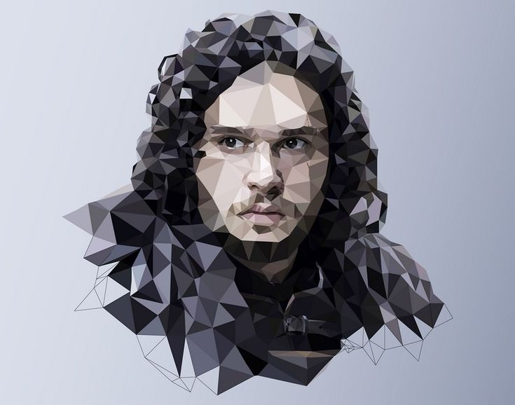 Game of Thrones polygones : Jon Snow